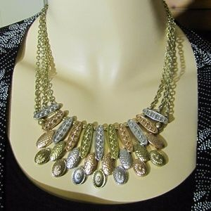 Sonoma Gold, Copper & Silver Tri-Toned Necklace